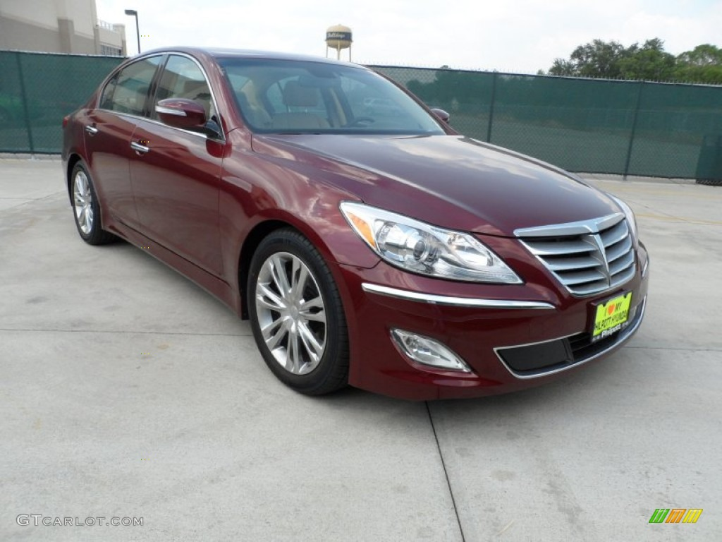 2012 cabernet red pearl hyundai genesis 3 8 sedan 55188916 car color galleries. Black Bedroom Furniture Sets. Home Design Ideas