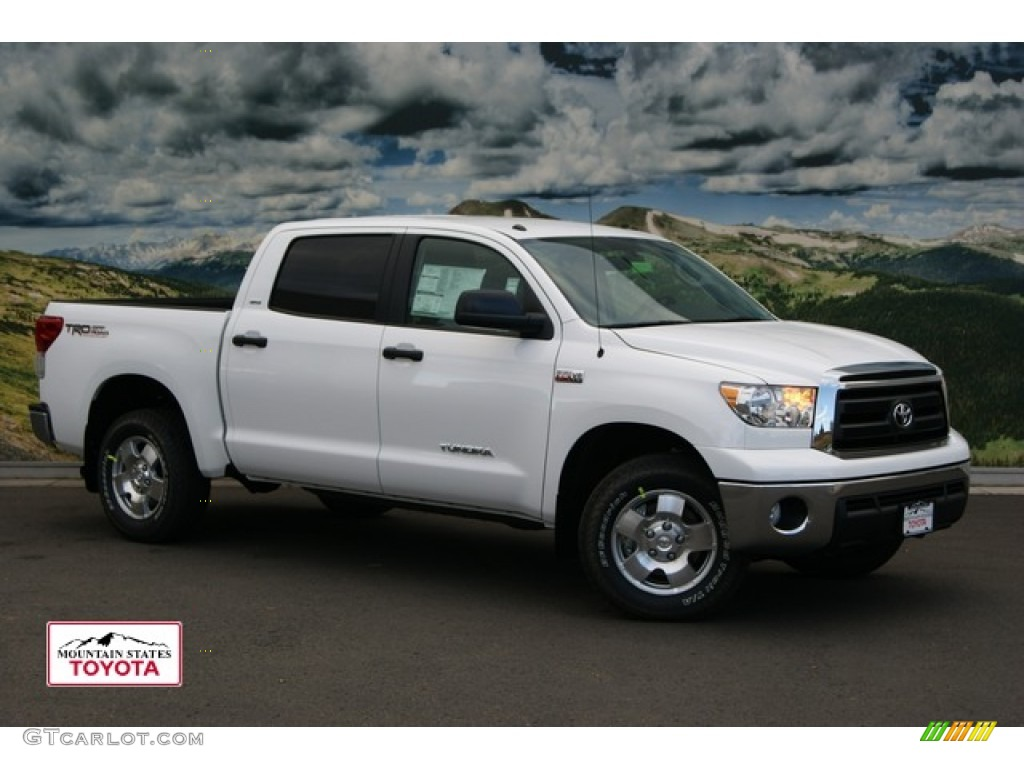 2012 super white toyota tundra sr5 trd crewmax 4x4 55188641 car color galleries. Black Bedroom Furniture Sets. Home Design Ideas