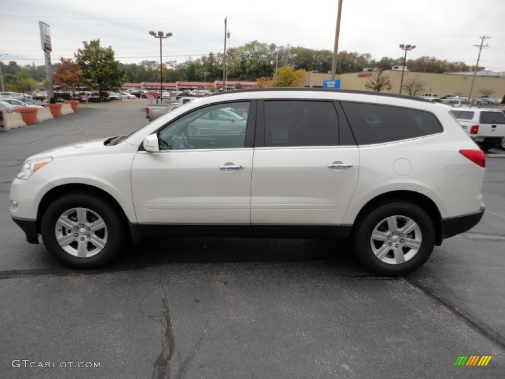 white diamond tricoat 2012 chevrolet traverse lt awd exterior photo. Cars Review. Best American Auto & Cars Review