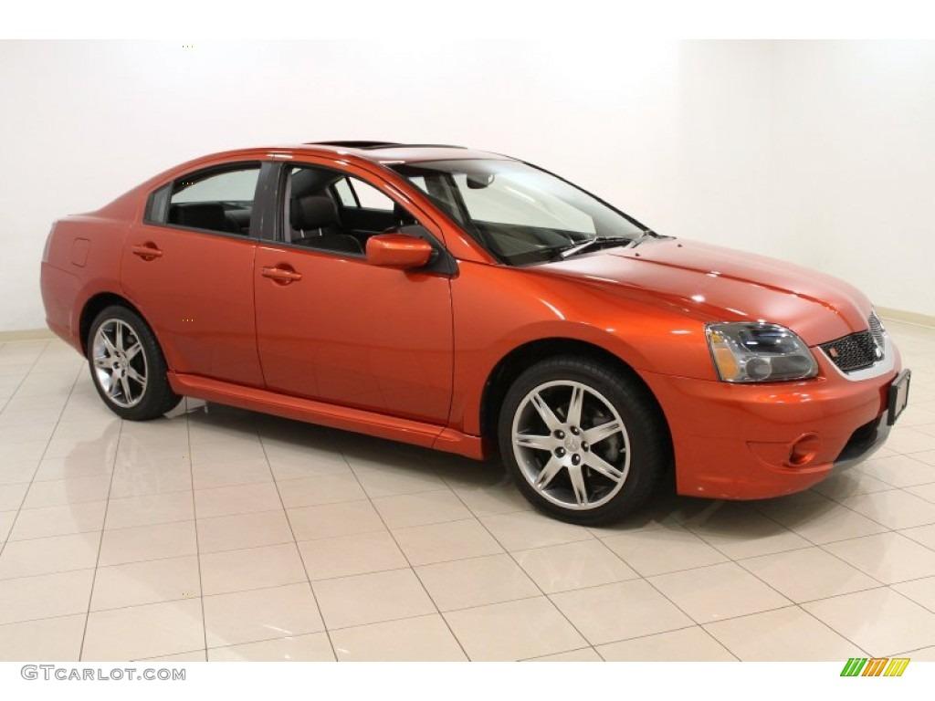 2007 sunset orange pearlescent mitsubishi galant ralliart 55236143 car color. Black Bedroom Furniture Sets. Home Design Ideas