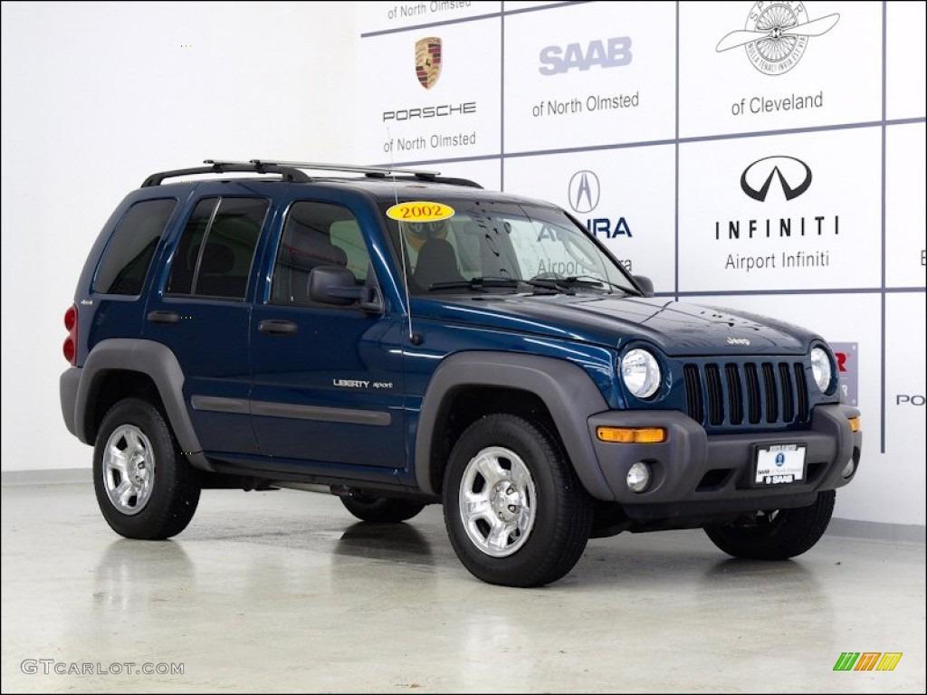 2002 Patriot Blue Pearlcoat Jeep Liberty Sport 4x4 #55236131 ...