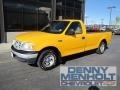 Fleet Yellow 1999 Ford F150 Regular Cab