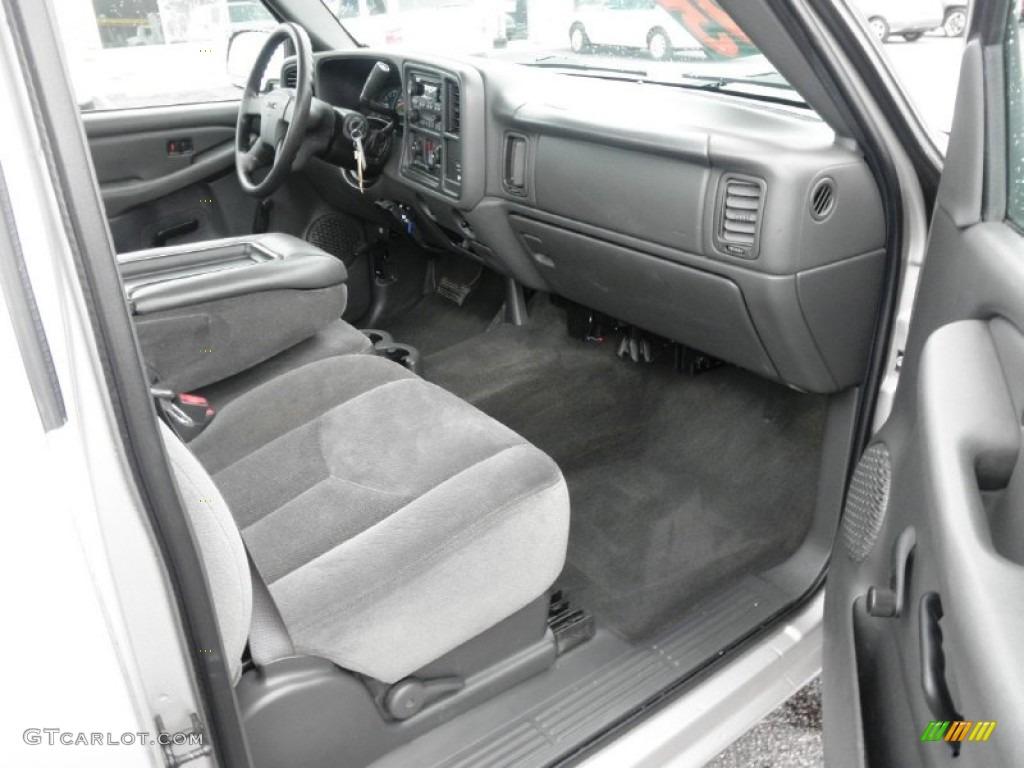 Dark Pewter Interior 2004 Gmc Sierra 2500hd Work Truck Regular Cab Photo 55248760