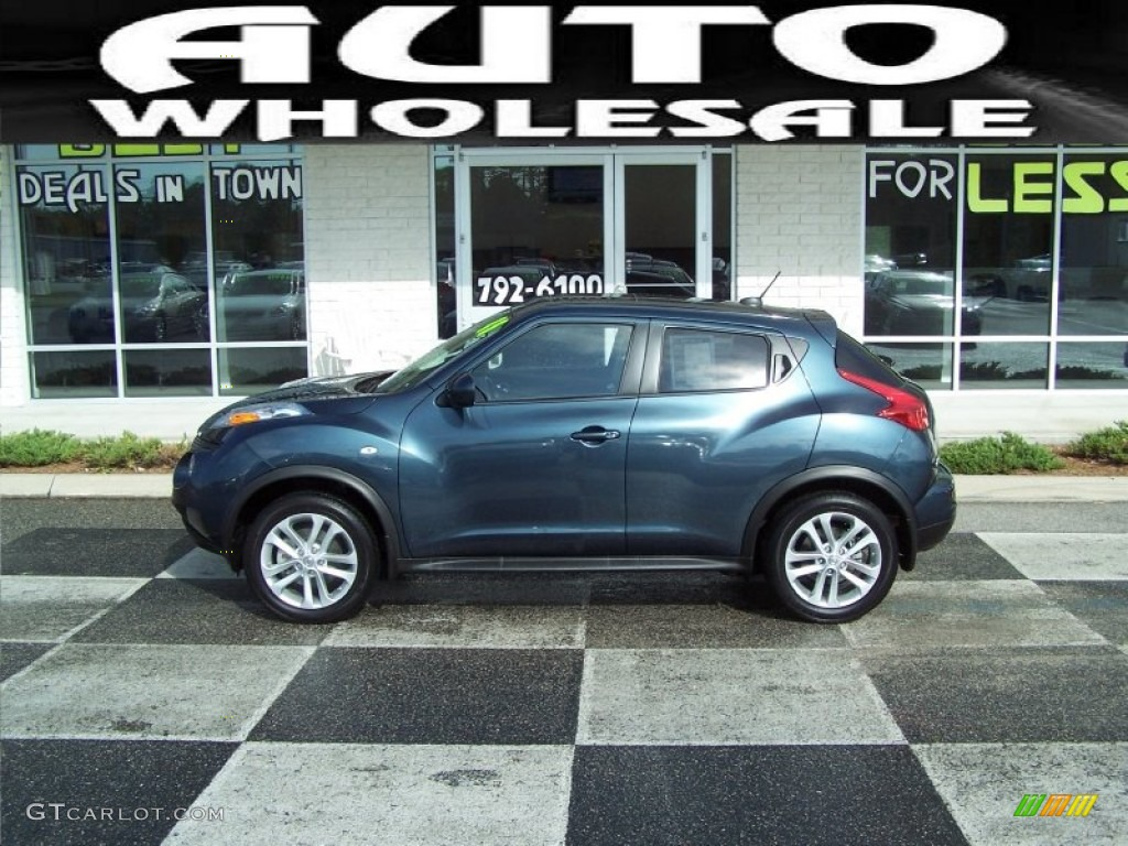 2011 Graphite Blue Nissan Juke Sl Awd 55236013 Photo 8