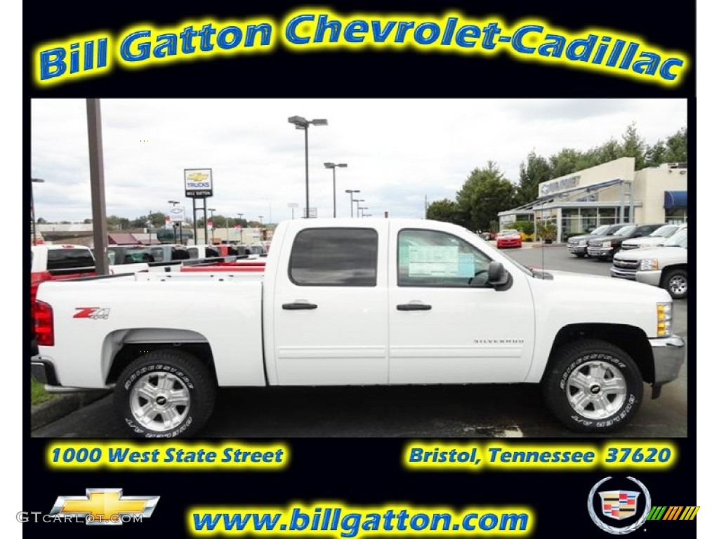 2012 Silverado 1500 LT Extended Cab - Summit White / Ebony photo #1