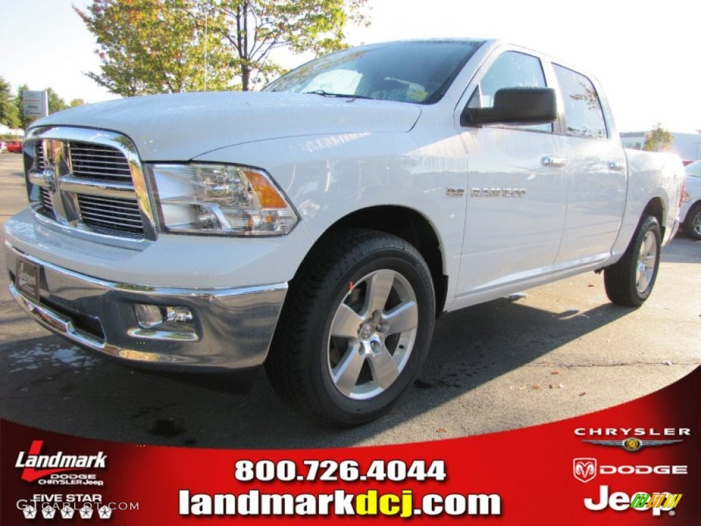 2012 Ram 1500 Big Horn Crew Cab - Bright White / Dark Slate Gray/Medium Graystone photo #1