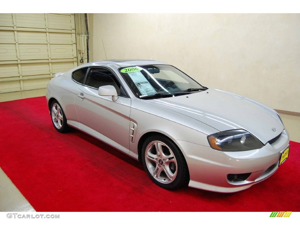 sterling silver metallic 2006 hyundai tiburon gt exterior photo 55293271. Black Bedroom Furniture Sets. Home Design Ideas