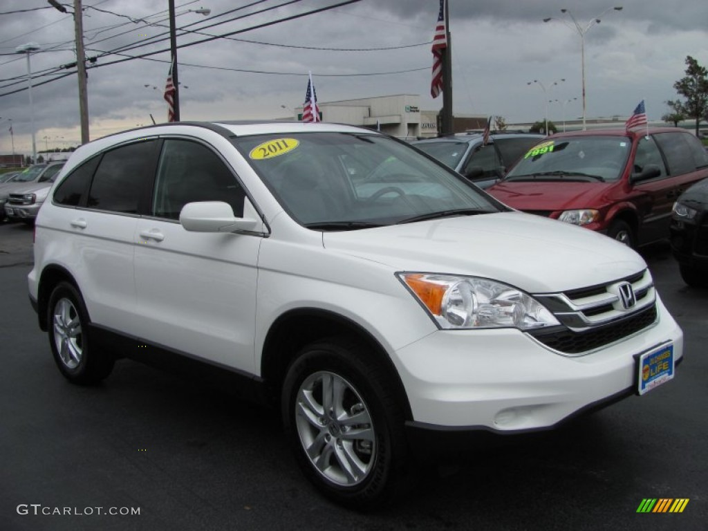 2011 CR-V EX-L 4WD - Taffeta White / Gray photo #20