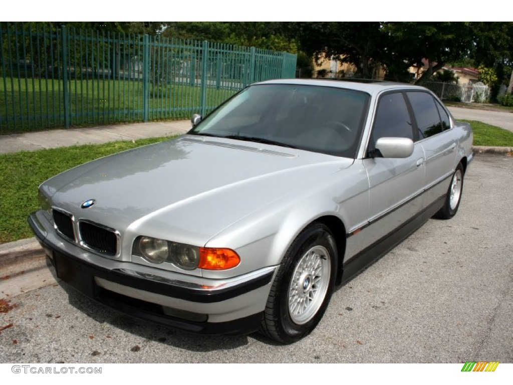 aspen silver metallic 1999 bmw 7 series 740il sedan. Black Bedroom Furniture Sets. Home Design Ideas