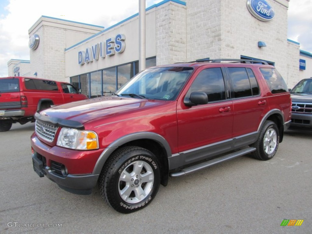 2003 Explorer XLT 4x4 - Redfire Metallic / Midnight Gray photo #1