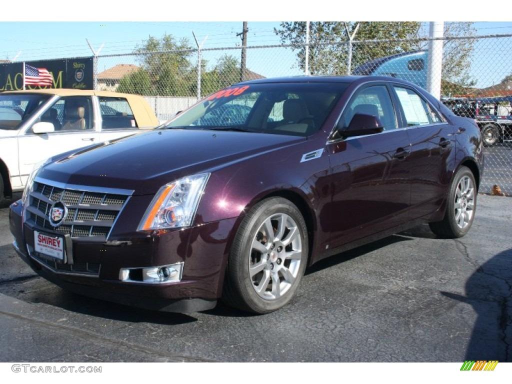2008 Black Cherry Cadillac Cts Sedan 55332455 Gtcarlot Com Car