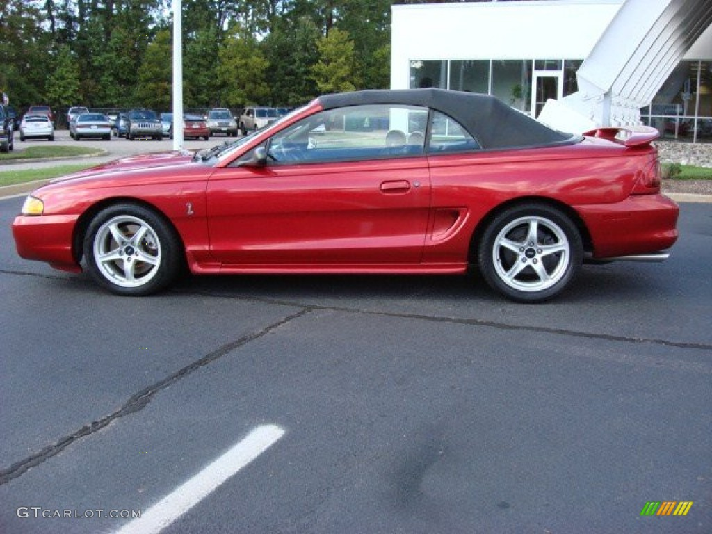 1998 Laser Red Ford Mustang Svt Cobra Convertible 55332780 Photo 28
