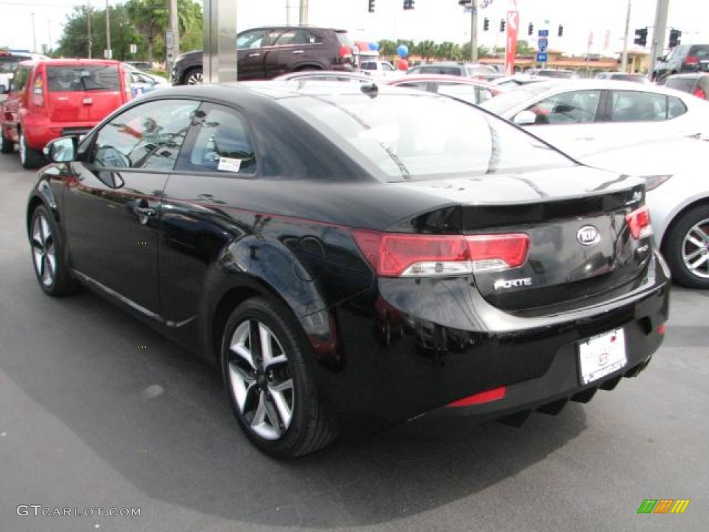 Ebony Black 2010 Kia Forte Koup Sx Exterior Photo