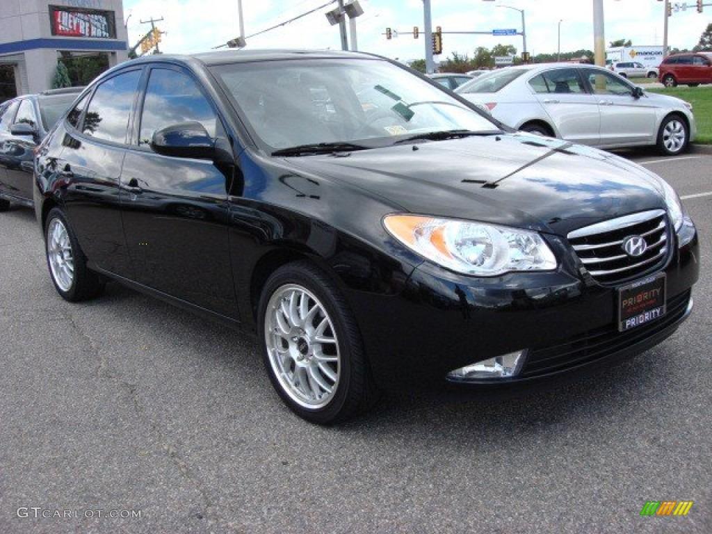 Ebony Black 2010 Hyundai Elantra Gls Exterior Photo 55347392 Gtcarlot Com