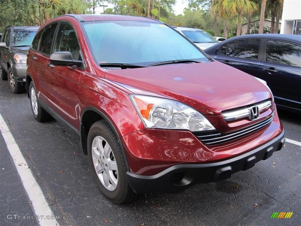 2009 CR-V EX - Tango Red Pearl / Ivory photo #1