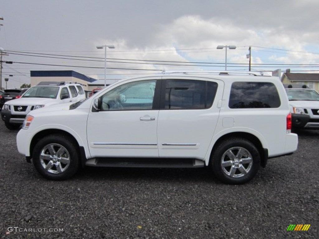 Blizzard White 2012 Nissan Armada Platinum 4wd Exterior