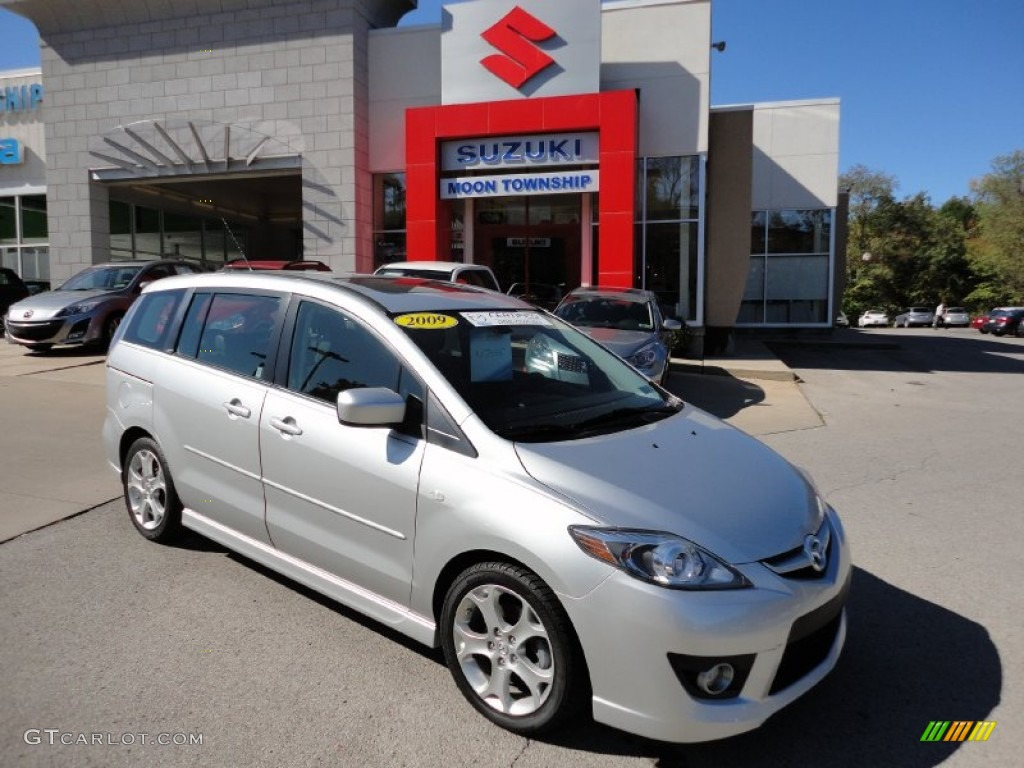 2009 sunlight silver metallic mazda mazda5 grand touring. Black Bedroom Furniture Sets. Home Design Ideas