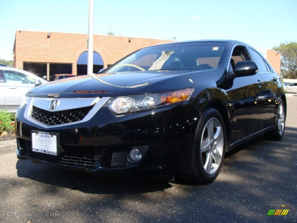 2009 TSX Sedan - Crystal Black Pearl / Ebony photo #1