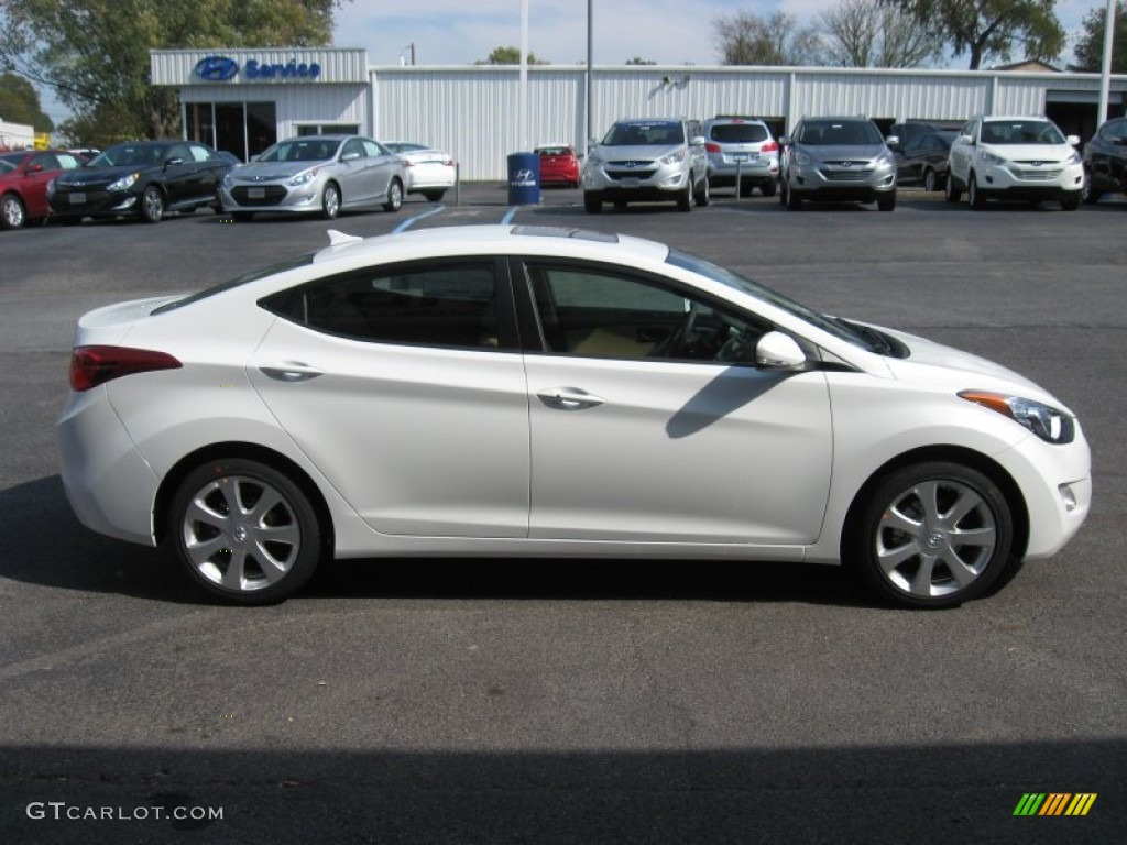 shimmering white 2012 hyundai elantra limited exterior. Black Bedroom Furniture Sets. Home Design Ideas