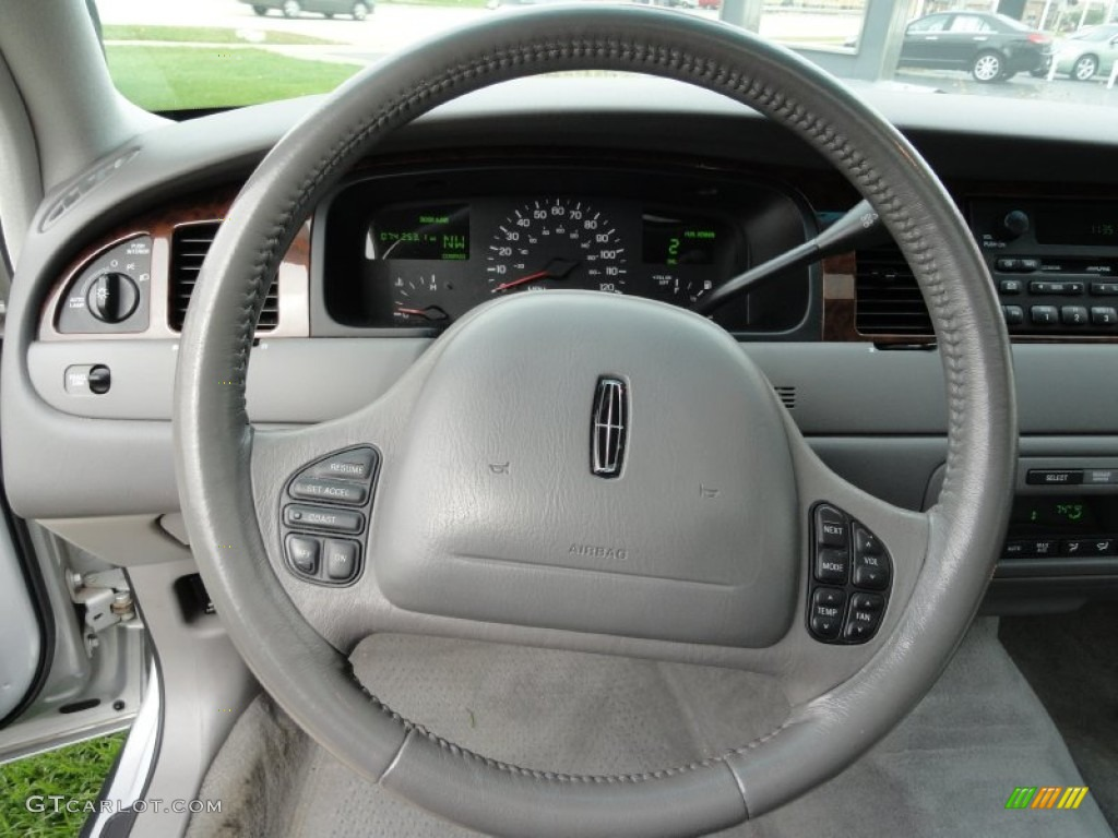 1999 lincoln town car signature light graphite steering wheel photo 55410045. Black Bedroom Furniture Sets. Home Design Ideas