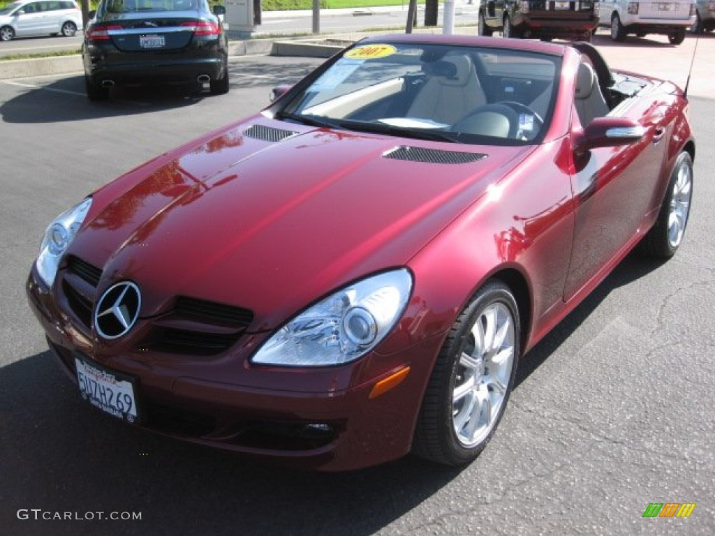 2007 storm red metallic mercedes benz slk 350 roadster. Black Bedroom Furniture Sets. Home Design Ideas