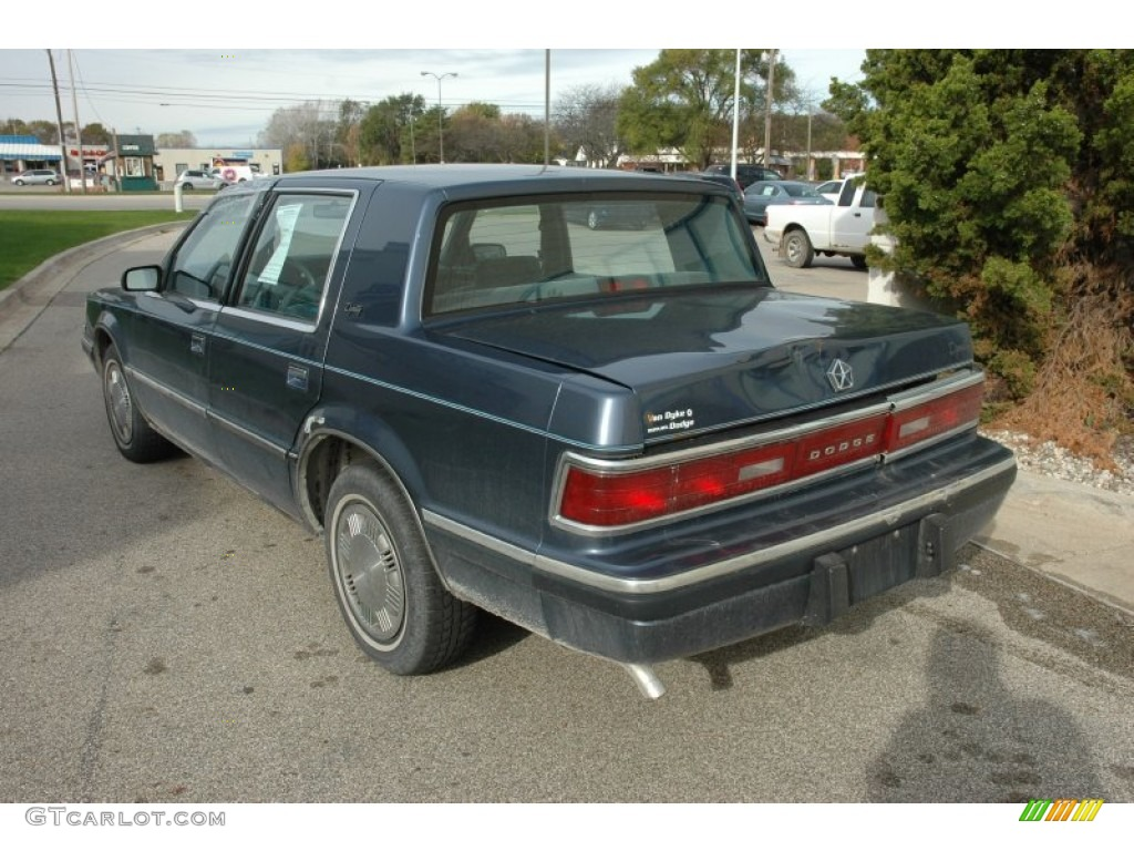 Blue Metallic 1989 Dodge Dynasty I4 Exterior Photo #55423824 | GTCarLot.com