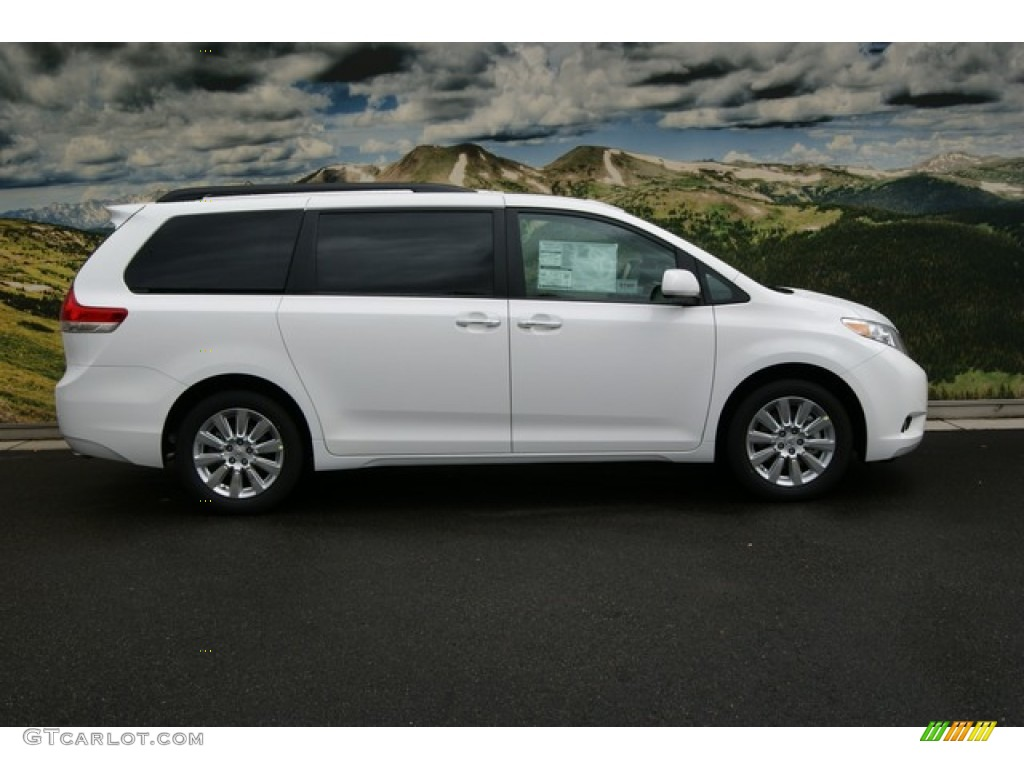 super white 2012 toyota sienna xle awd exterior photo 55427855. Black Bedroom Furniture Sets. Home Design Ideas