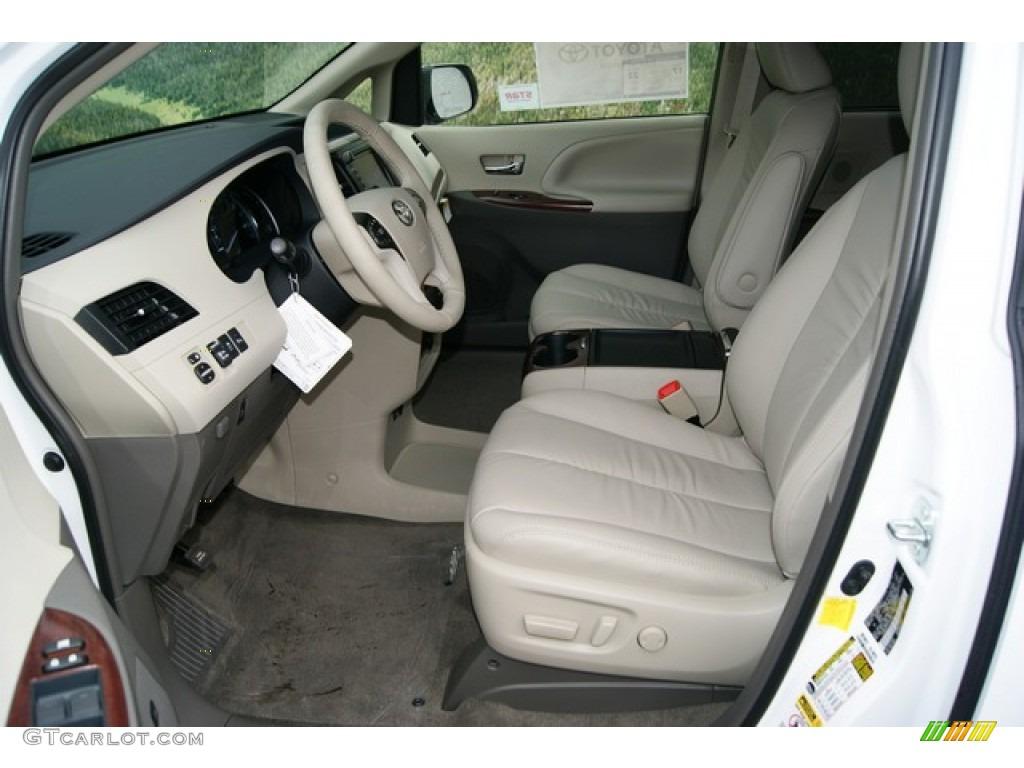 Bisque Interior 2012 Toyota Sienna Xle Awd Photo 55427871