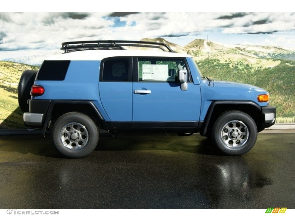 cavalry blue 2012 toyota fj cruiser 4wd exterior photo 55428015. Black Bedroom Furniture Sets. Home Design Ideas