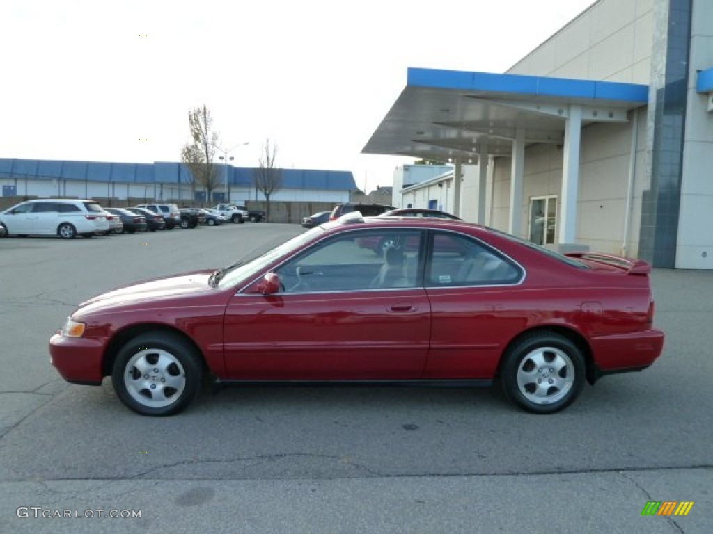 Good 1997 Accord SE Coupe   San Marino Red / Gray Photo #2