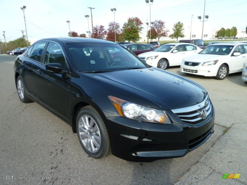 Crystal Black Pearl 2012 Honda Accord Ex Sedan Exterior