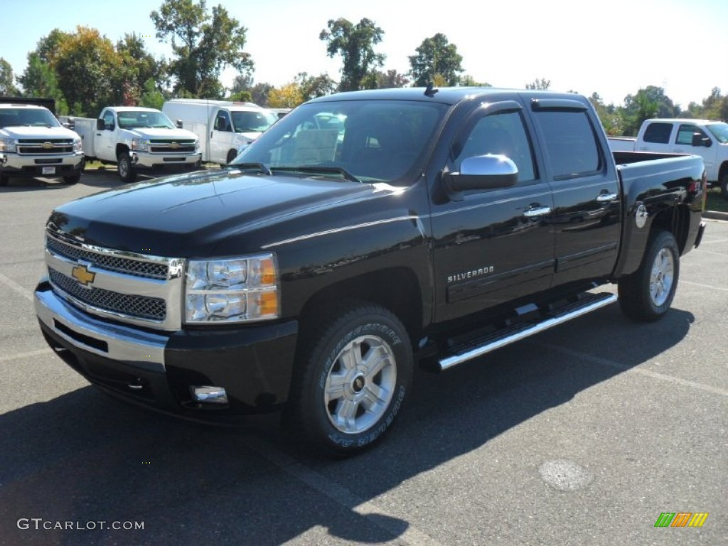 2011 Silverado 1500 LT Crew Cab 4x4 - Black / Ebony photo #1