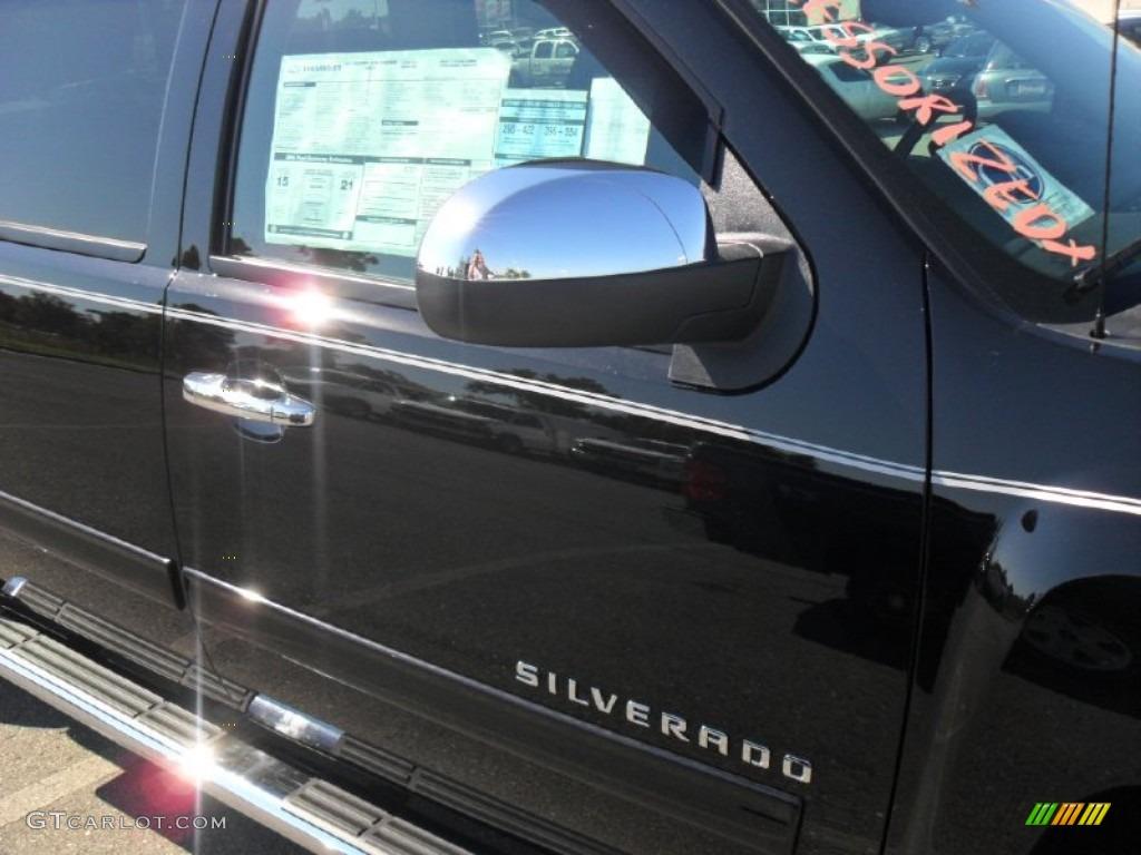 2011 Silverado 1500 LT Crew Cab 4x4 - Black / Ebony photo #22