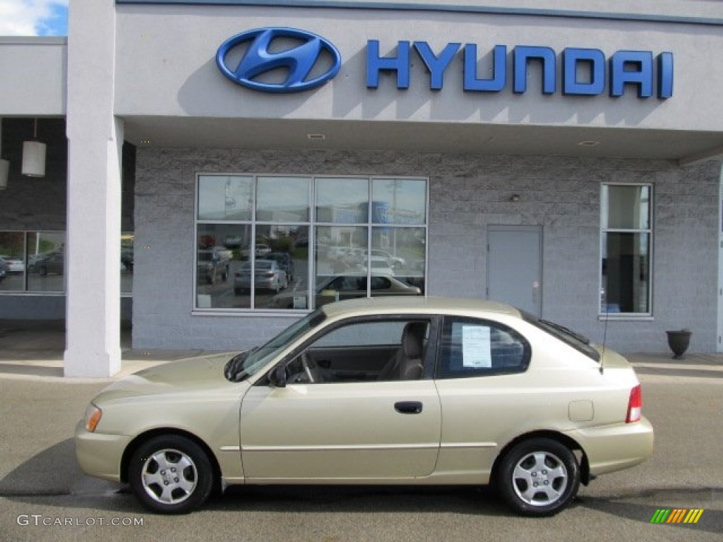 2002 desert sand hyundai accent gs coupe 55450303 photo 3 gtcarlot com car color galleries gtcarlot com