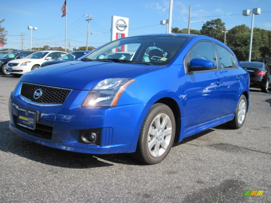 2010 Sentra 2.0 SR   Blue Metallic / Charcoal Photo #1