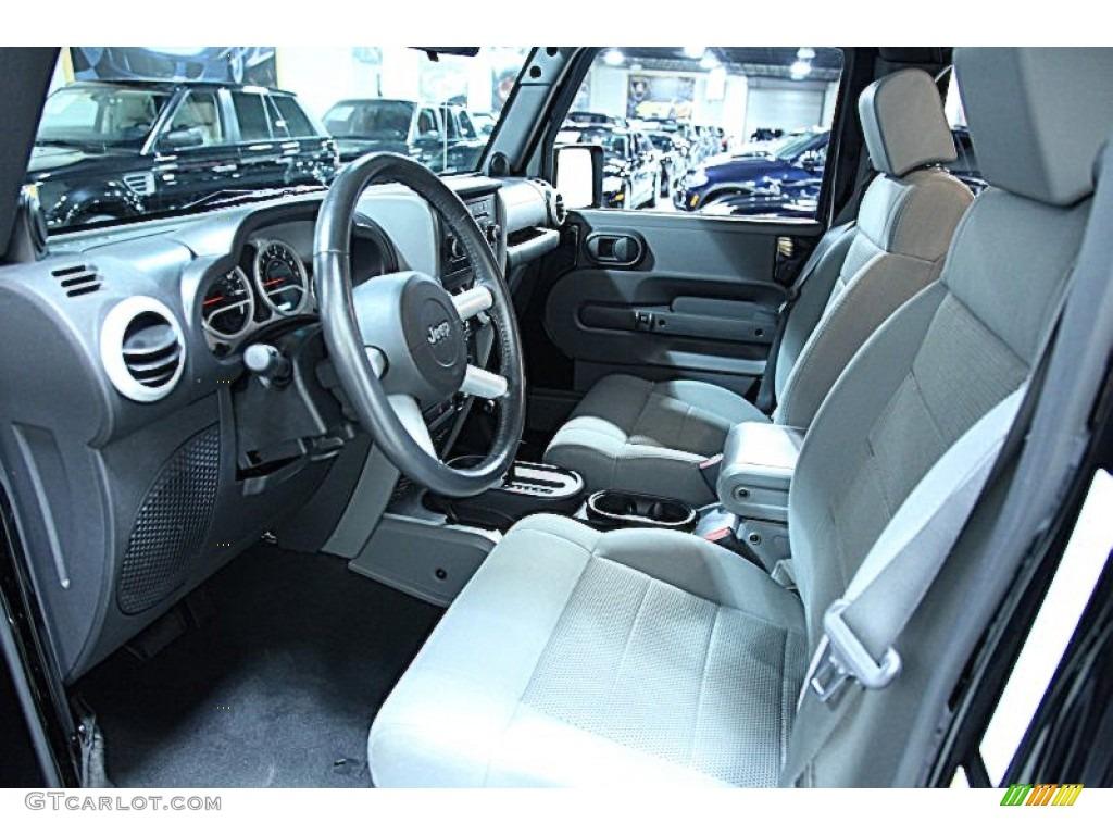 Dark Slate Gray Medium Slate Gray Interior 2009 Jeep Wrangler Unlimited Sahara 4x4 Photo