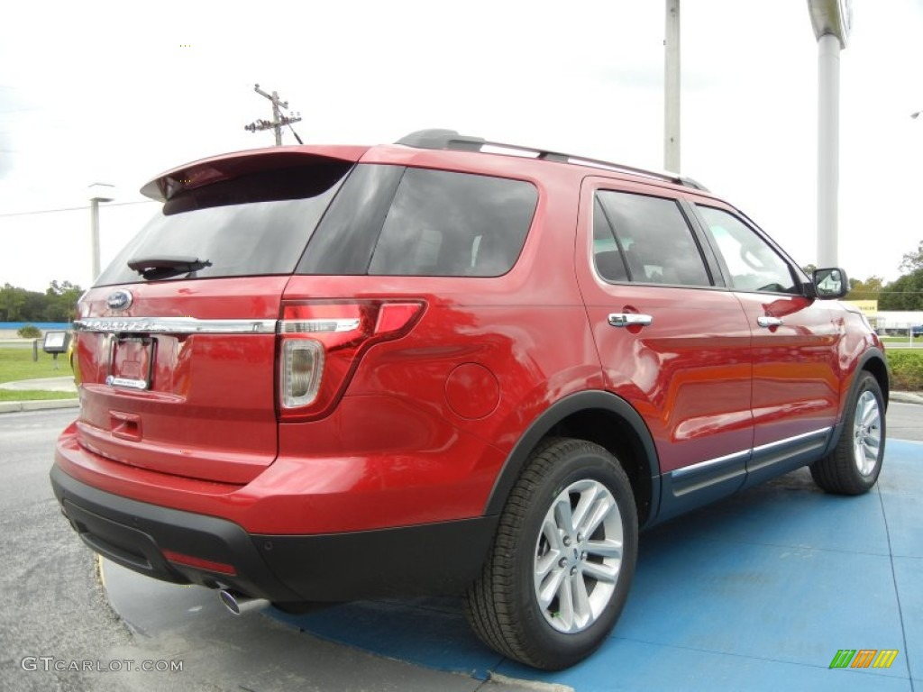 Red Candy Metallic 2012 Ford Explorer Xlt Exterior Photo