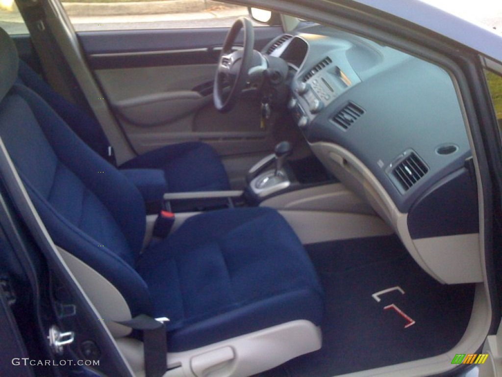 Blue Interior 2008 Honda Civic Hybrid Sedan Photo #55468124