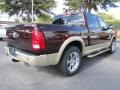 2012 Deep Molten Red Pearl Dodge Ram 1500 Laramie Longhorn Crew Cab  photo #3