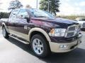 2012 Deep Molten Red Pearl Dodge Ram 1500 Laramie Longhorn Crew Cab  photo #4