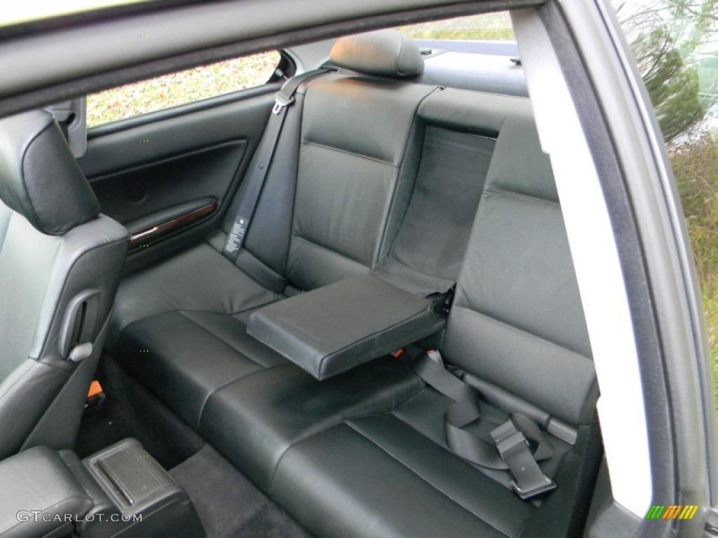 Black Interior 2004 BMW 3 Series 325i Coupe Photo #55488708