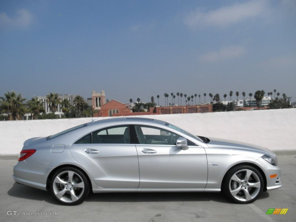 Iridium silver metallic 2012 mercedes benz cls 550 coupe for 2012 mercedes benz cls