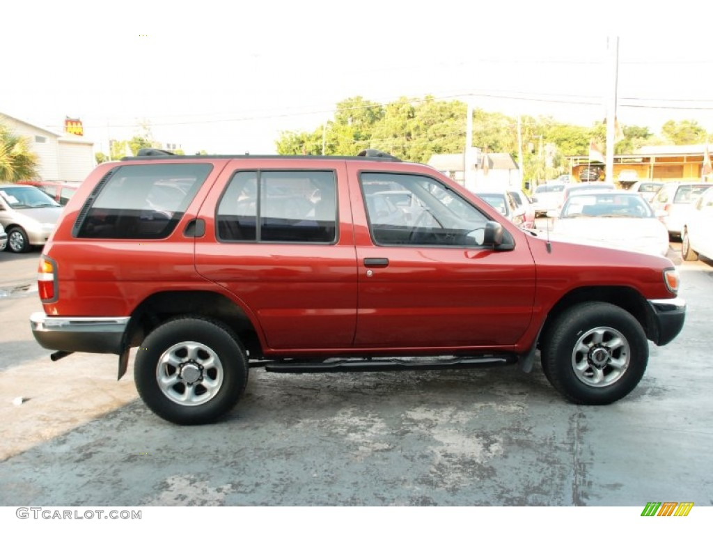 red pearl metallic 1998 nissan pathfinder le exterior photo