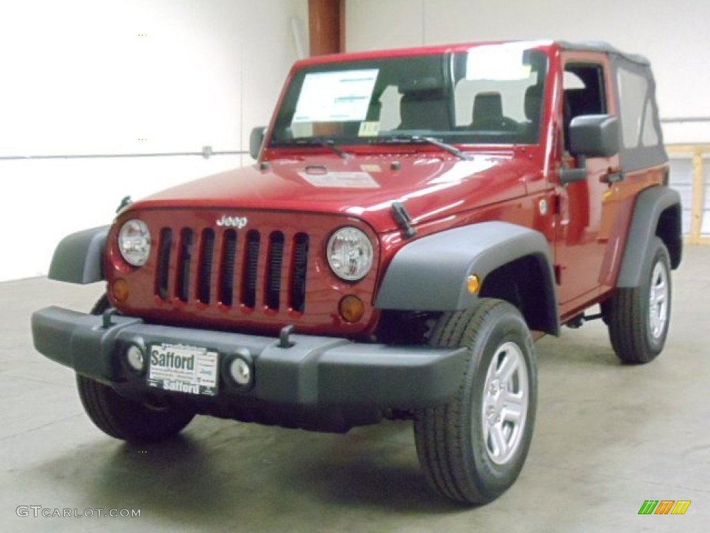 2012 Wrangler Sport 4x4 - Deep Cherry Red Crystal Pearl / Black photo #1