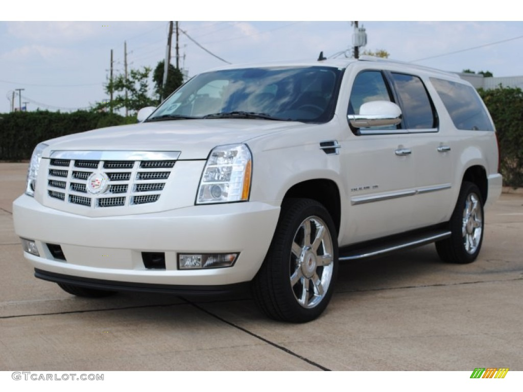 2012 white diamond tricoat cadillac escalade esv luxury. Black Bedroom Furniture Sets. Home Design Ideas