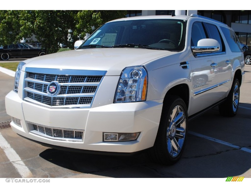 2012 white diamond tricoat cadillac escalade esv platinum. Black Bedroom Furniture Sets. Home Design Ideas