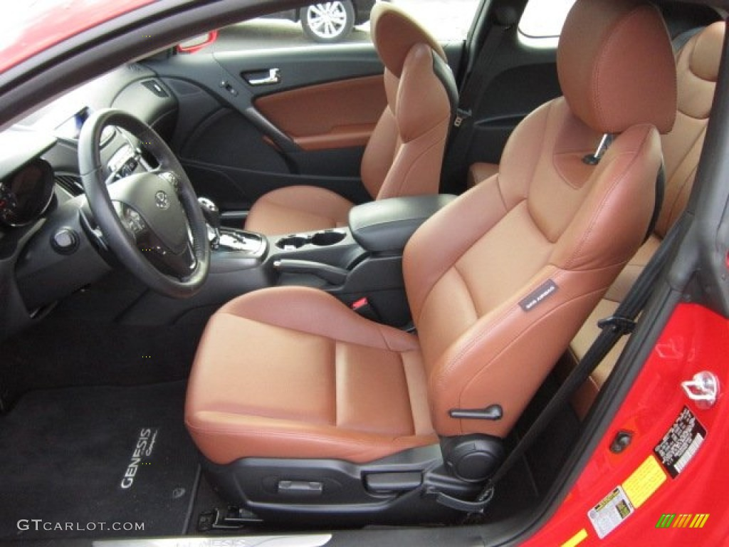 Brown Leather Interior 2011 Hyundai Genesis Coupe 3.8 Grand Touring Photo  #55505600