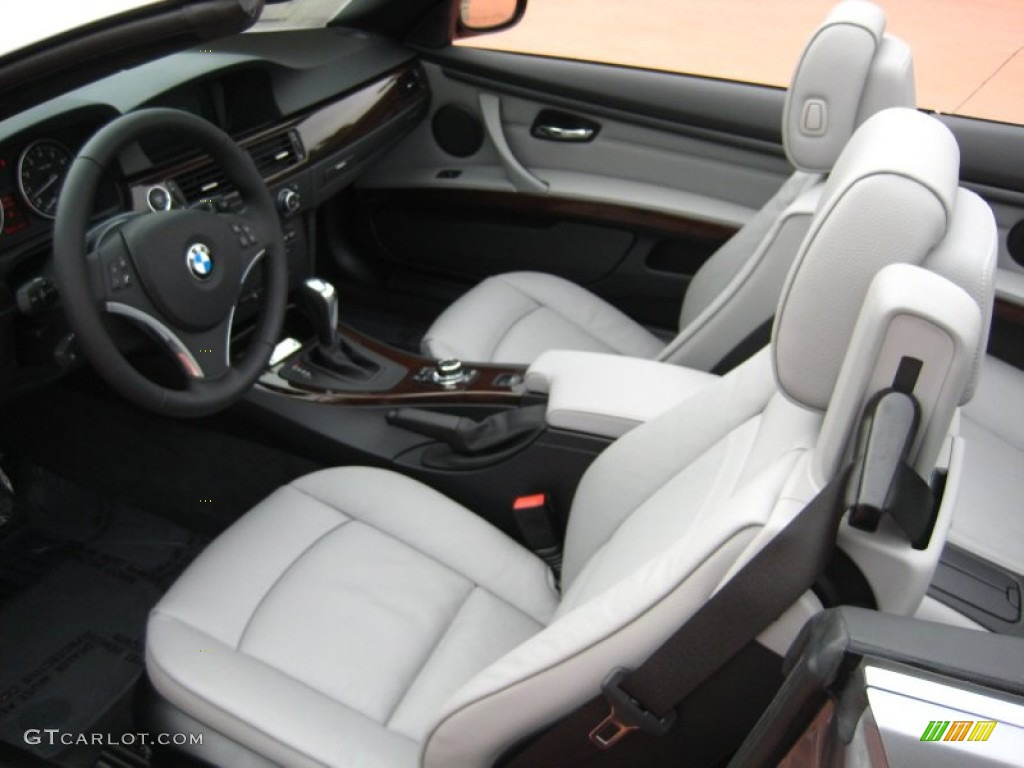 Oyster Black Interior 2012 BMW 3 Series 328i Convertible Photo 55507622