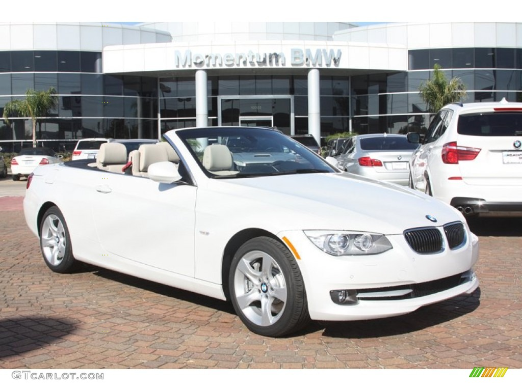 2012 Mineral White Metallic Bmw 3 Series 335i Convertible 55537369 Car Color