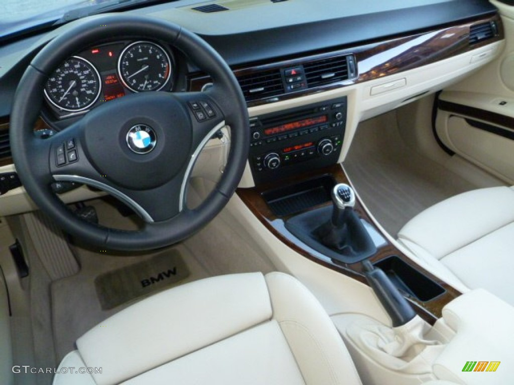 cream beige interior 2010 bmw 3 series 335i coupe photo 55539615